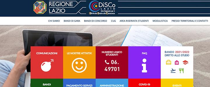Lazio DiSCo Scholarships Application English Guide 2021/22